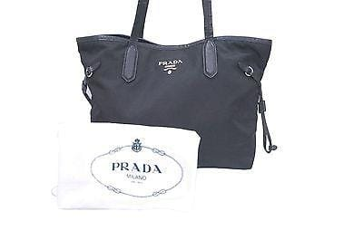 100% Auth PRADA Black Nylon Tote Shoulder Bag E1396 - Dallas Designer Handbags