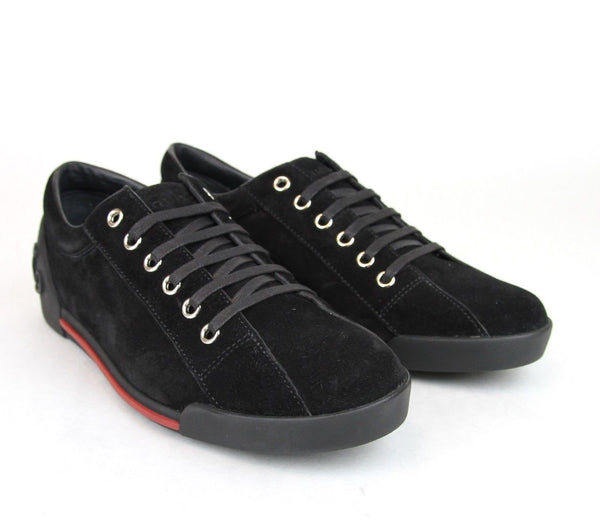 Gucci Sneakers - Gucci Women Black Sneakers Suede Trainer