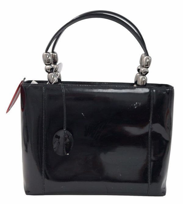 Christian Dior Handbags - Maris Pearl Black Patent Leather Bag