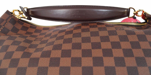 Authentic Louis Vuitton Damier Ebene Portobello GM Shoulder HandBag E2024