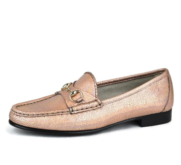 Gucci Shoes Salmon Crackled Leather For Women - side view
