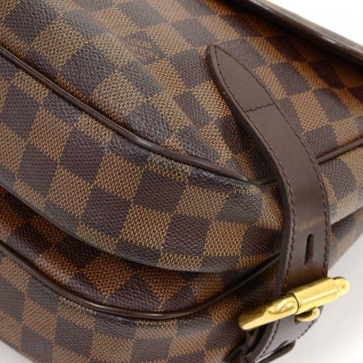 Louis Vuitton Highbury Damier Ebene Shoulder Handbag - leather