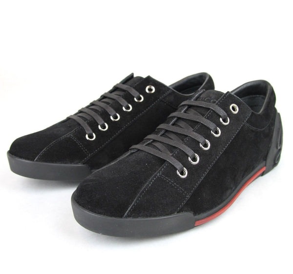 Gucci Sneakers - Gucci Women Black Sneakers Suede Trainer - shoes