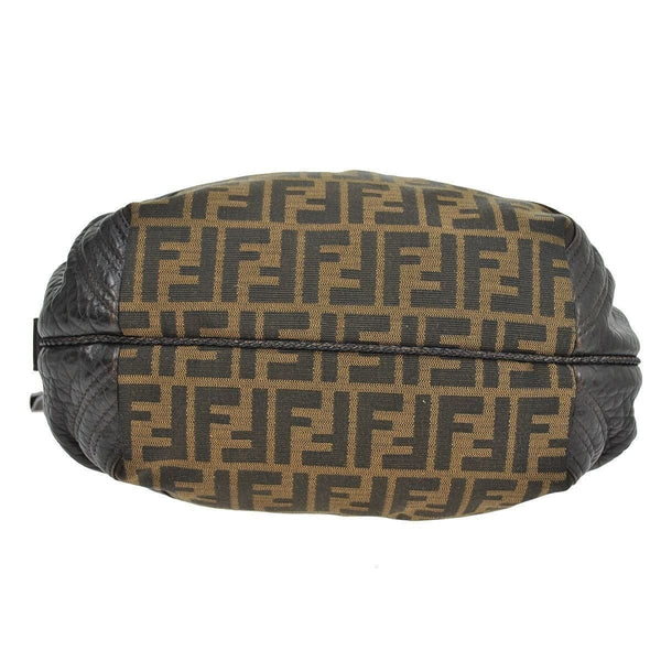 Fendi Zucca Pattern Handbag Nylon Leather - bottom view
