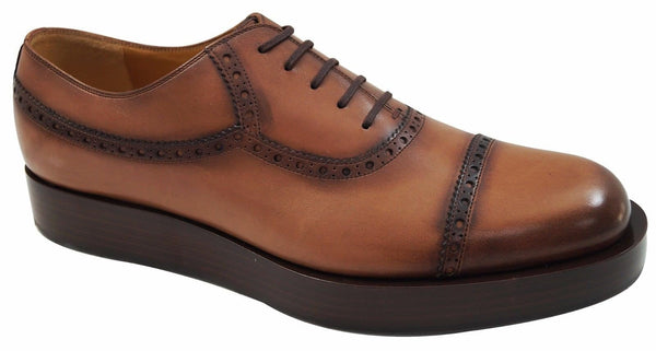 Authentic Gucci Mens US 11 Leather Platform Lace-up Oxford Shoes E1992 - Dallas Designer Handbags