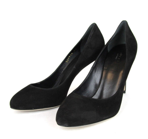 Gucci Heels Black Suede Interlocking - Gucci Shoes Women