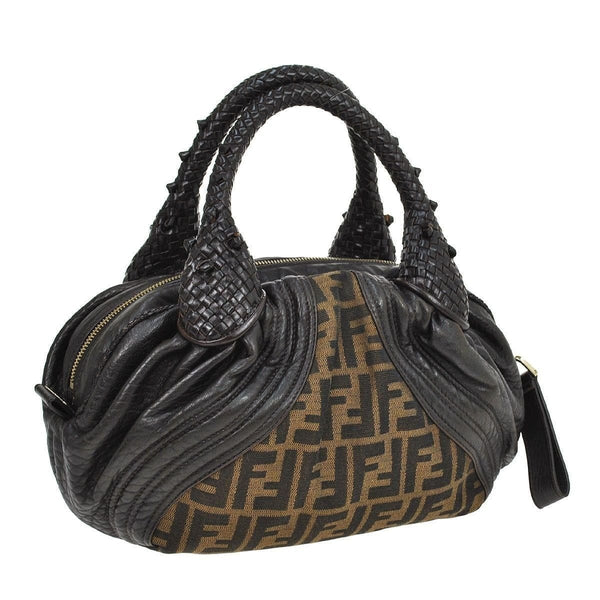 Fendi Zucca Pattern Handbag Nylon Leather - strap