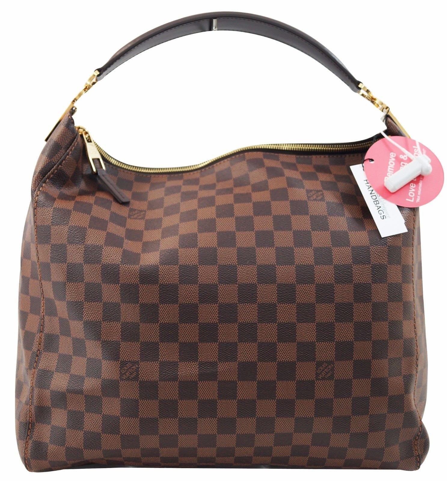 289db8acac62 Authentic Louis Vuitton Damier Ebene Portobello GM Shoulder HandBag E2