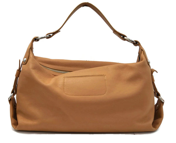 Authentic Tod's Benji Pattina Media Tan Handbag W/DustBag CG001 - Dallas Designer Handbags