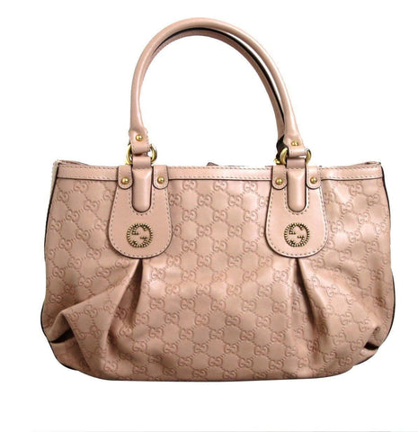 Gucci 269953 Women's Scarlett Nude Guccissima Leather Handbag Tote - Final Call