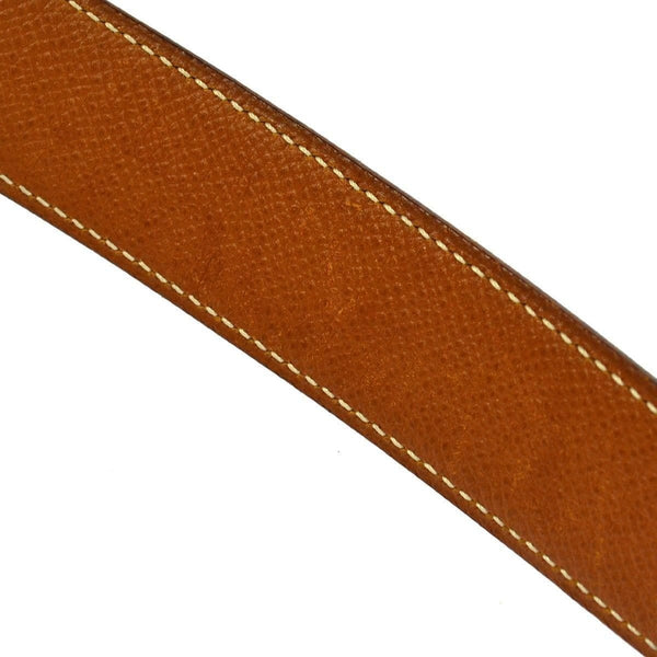 Authentic Hermes Constance H Buckle Belt Black Brown Leather #70 TT112 - Dallas Designer Handbags