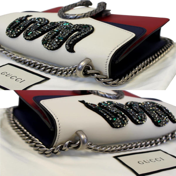 Gucci Dionysus Mini Crystal Embroidered Snake Bag - chain corners