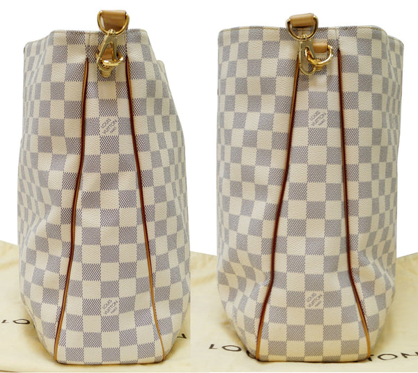 LOUIS VUITTON Damier Azur Soffi White Shoulder Handbag