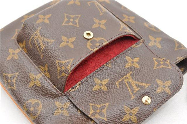 LOUIS VUITTON Monogram Partition Clutch Bag