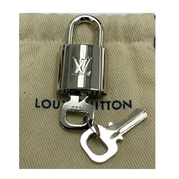LOUIS VUITTON Padlock and 2 Keys Silver Bag Charm Number 444