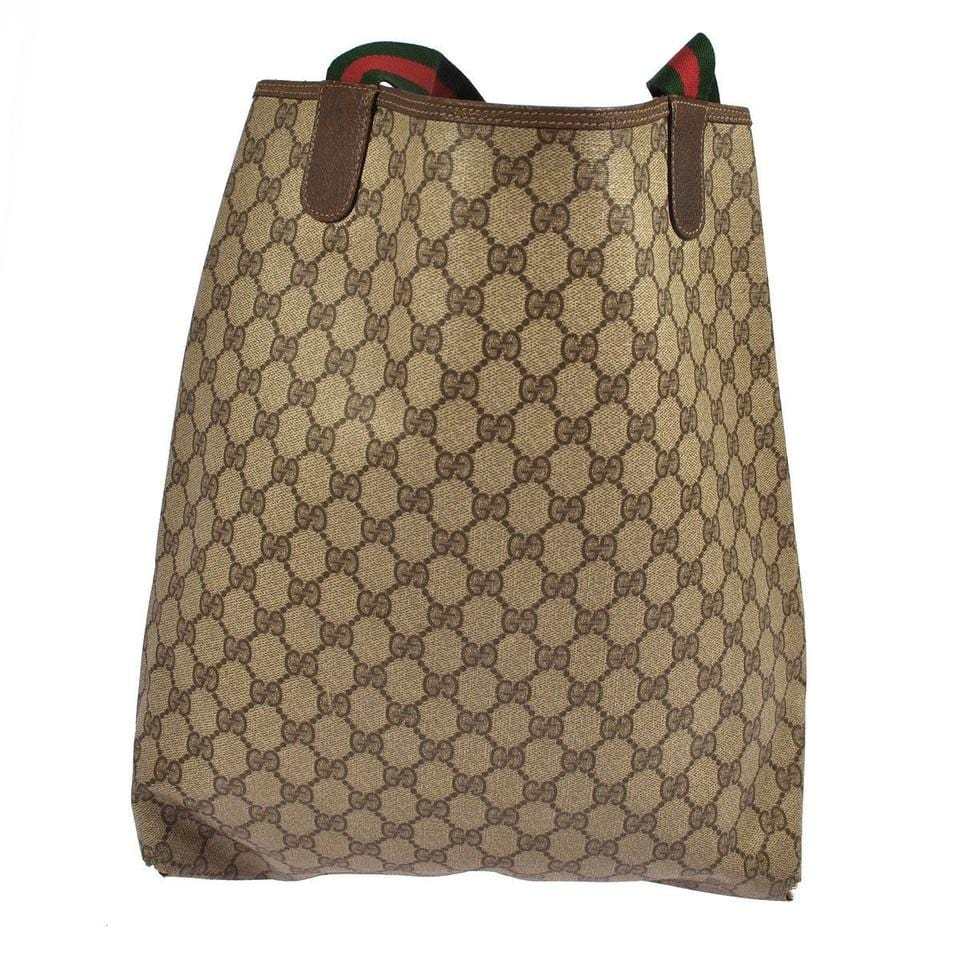 6da810511043 Gucci Pvc Leather Brown Beige, Brown Tote Bag E1047 - Dallas Designer  Handbags