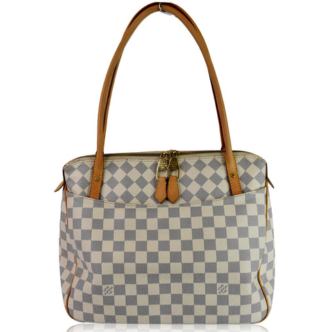 LOUIS VUITTON Figheri PM Damier Azur Shoulder Bag White