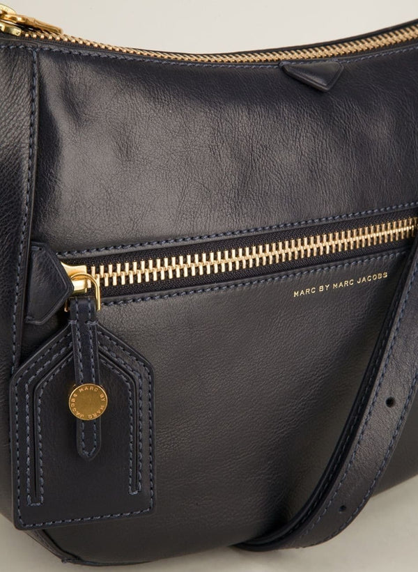 Marc Jacobs Globetrotter Messenger Womens Bag in Midnight Navy