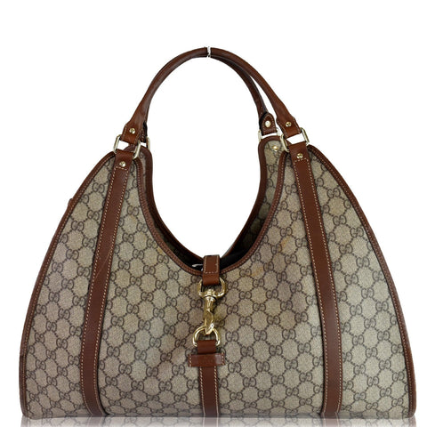 GUCCI Joy Large GG Monogram Shoulder Bag Brown 203493