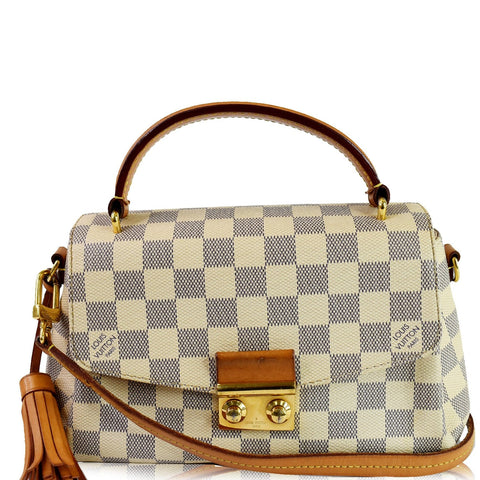 LOUIS VUITTON Croisette Damier Azur Shoulder Crossbody Bag White