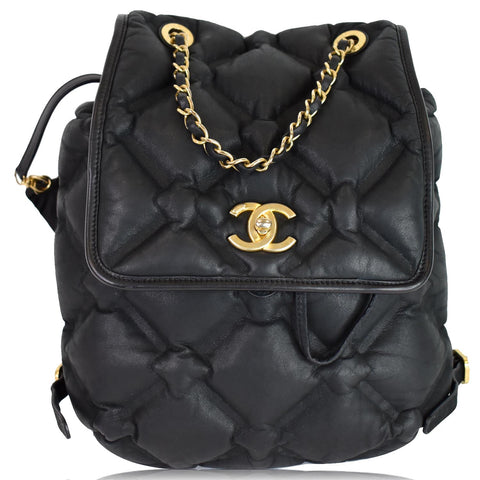 CHANEL Chesterfield Quilted Calfskin Backpack Black