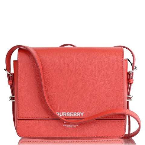 BURBERRY Small Grace Leather Shoulder Bag Red