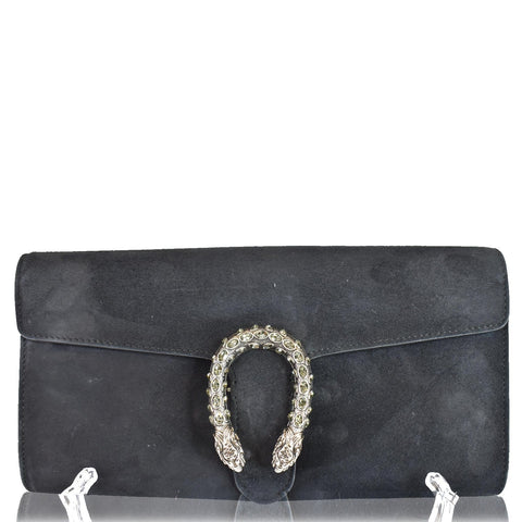 GUCCI Dionysus Small Velvet Clutch Bag Black 425250