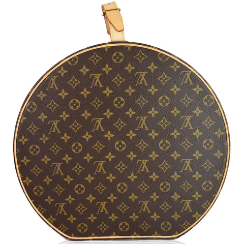 LOUIS VUITTON Hat Box 40 Monogram Canvas Travel Bag Brown