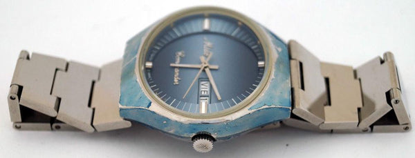 Mido Commander 8689 Automatic Blue SS Day/Date Swiss Watch