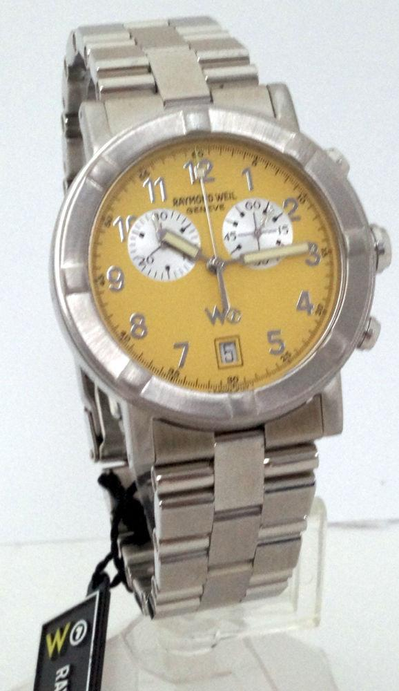 Raymond Weil W1 8000 Parsifal Chronograph Date Mens Watch Stainless Steel