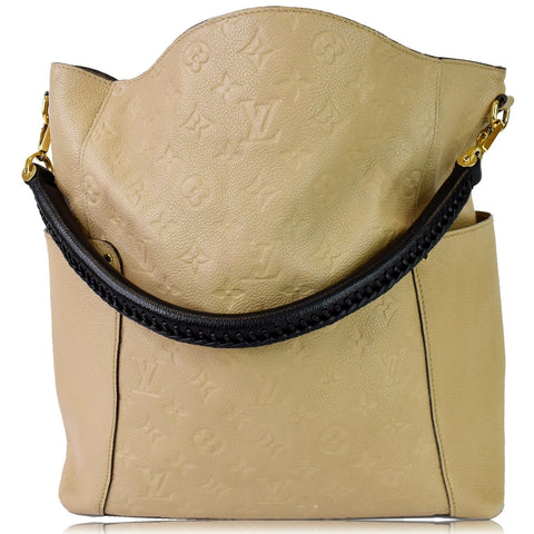 LOUIS VUITTON Bagatelle Monogram Empreinte Leather Shoulder Bag Beige