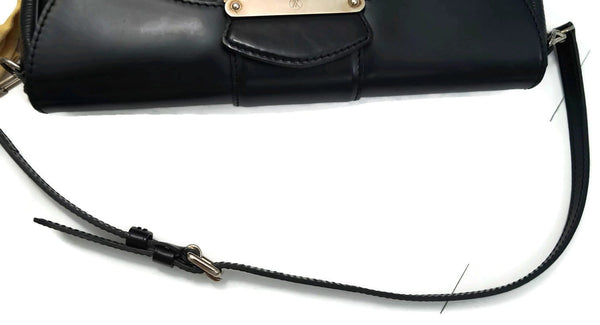 LOUIS VUITTON Montaigne Clutch Epi Noir Shoulder Bag