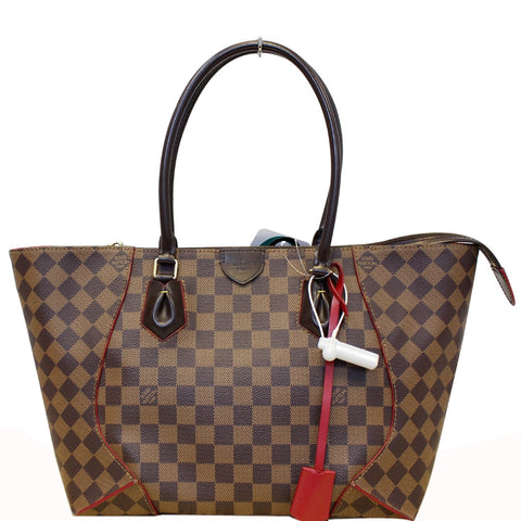 LOUIS VUITTON Caissa MM Damier Ebene Tote Bag