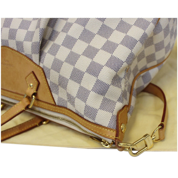 LOUIS VUITTON Siracusa GM Damier Azur Shoulder Handbag White