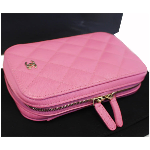 CHANEL Wallet On Chain WOC Caviar Leather Phone Holder Pink-US