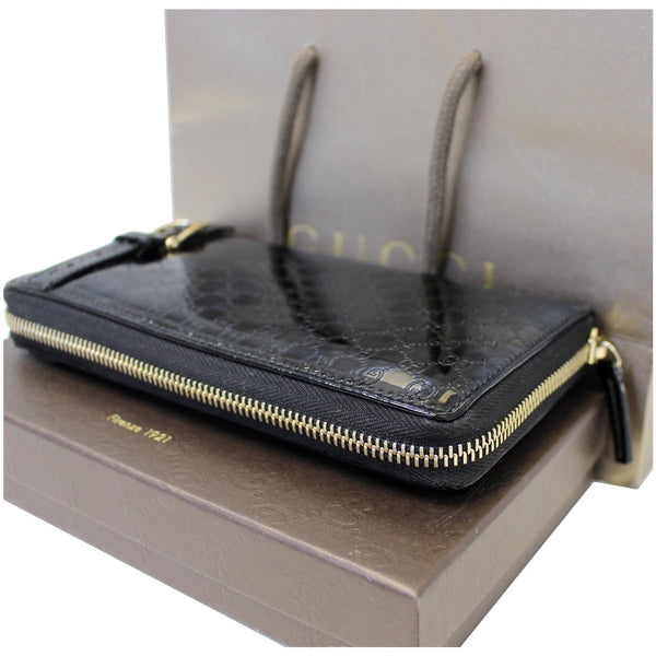 Gucci Wallet Nice Microguccissima Patent Leather - side view