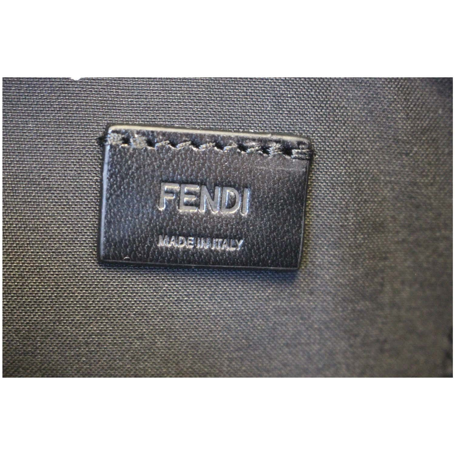 Fendi Clutch Bag Bugs Metal Slim Black For Women