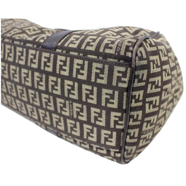 Fendi Shoulder Bag Zucchino Canvas Brown - side view