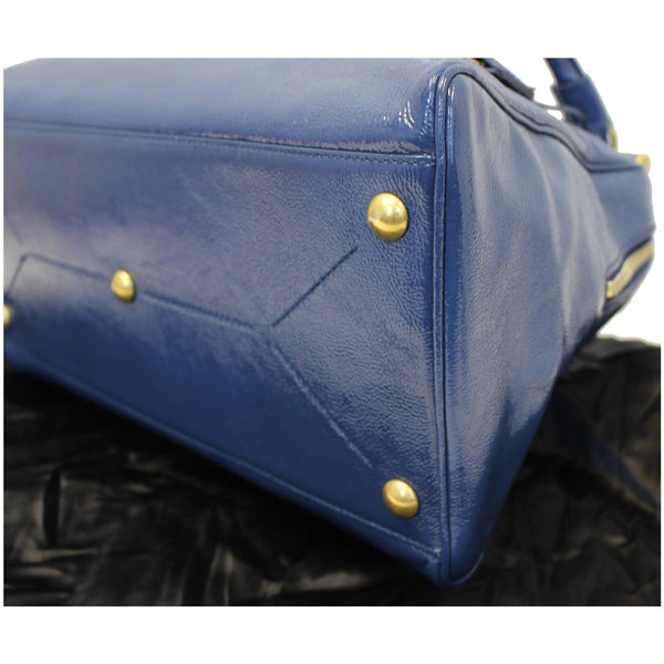 Yves Saint Laurent Majorelle Satchel Bag Leather Blue for sale