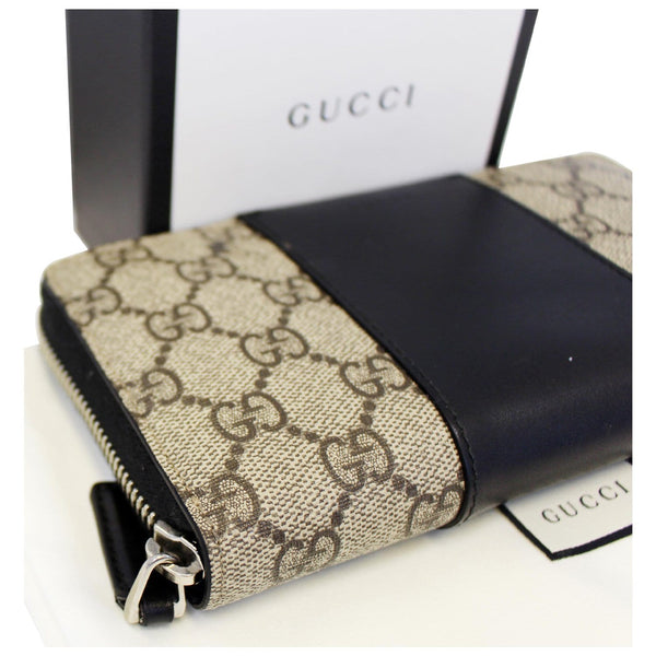 Gucci Wallet GG Supreme Monogram Zip Around for women