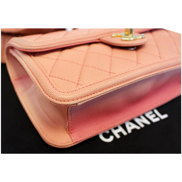 Chanel Sunset On The Sea Caviar Leather Small Flap exterior