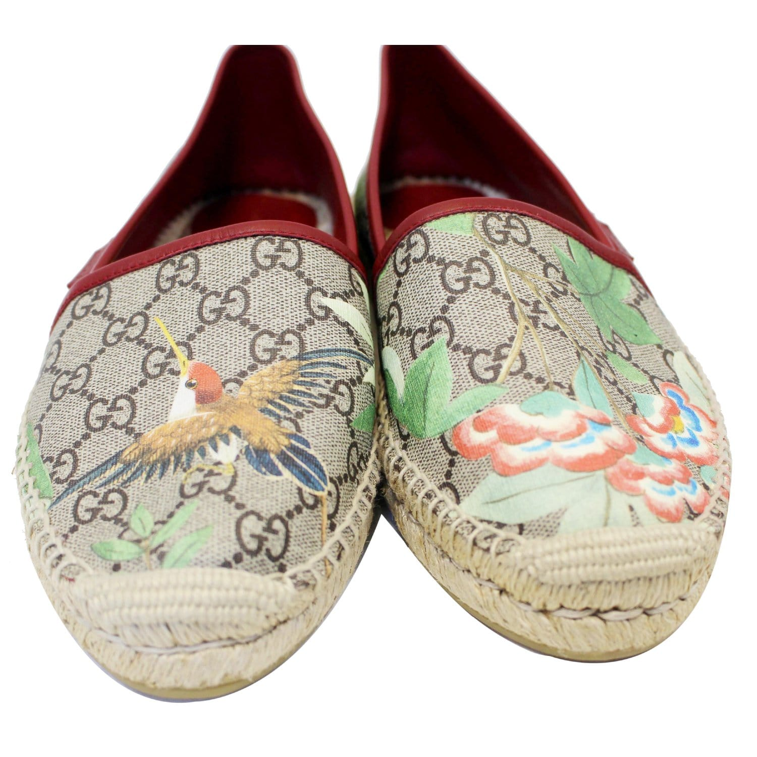 04160649d11f GUCCI GG Blooms Supreme Espadrille Flats Size 42-US