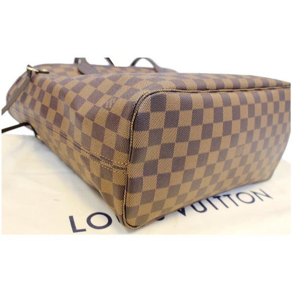 LOUIS VUITTON Neverfull MM Damier Ebene Brown Tote Bag-US