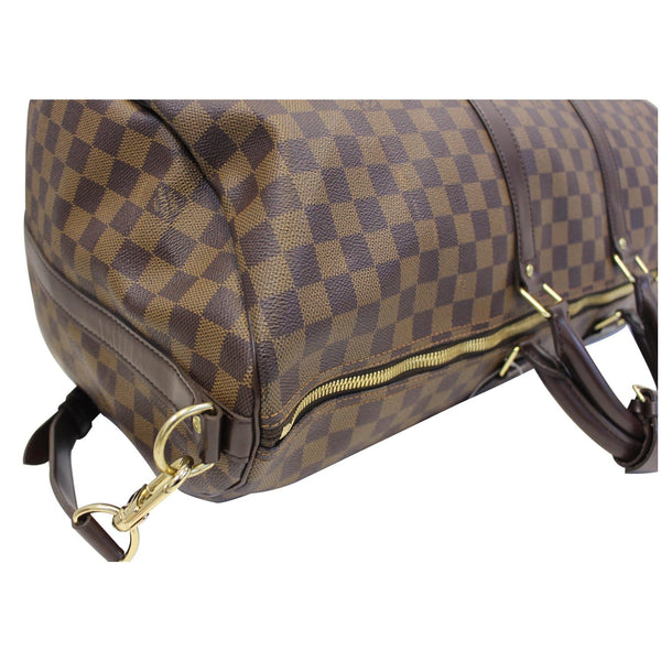 Louis Vuitton Keepall - Lv Damier Ebene Travel Bag brown - gold zip