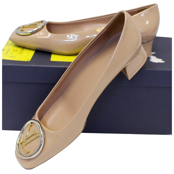 LOUIS VUITTON Madeleine Ballerina Patent Leather Pumps Blush-US