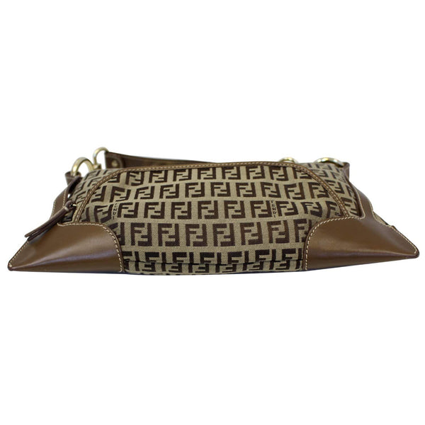 FENDI Zucca Small Canvas Shoulder Bag Beige-US