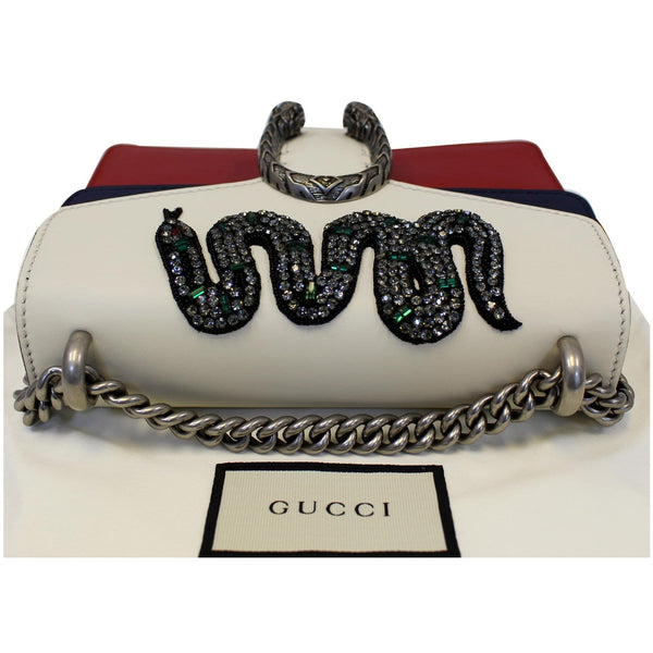 Gucci Dionysus Mini Crystal Embroidered Snake Bag - snake engraved