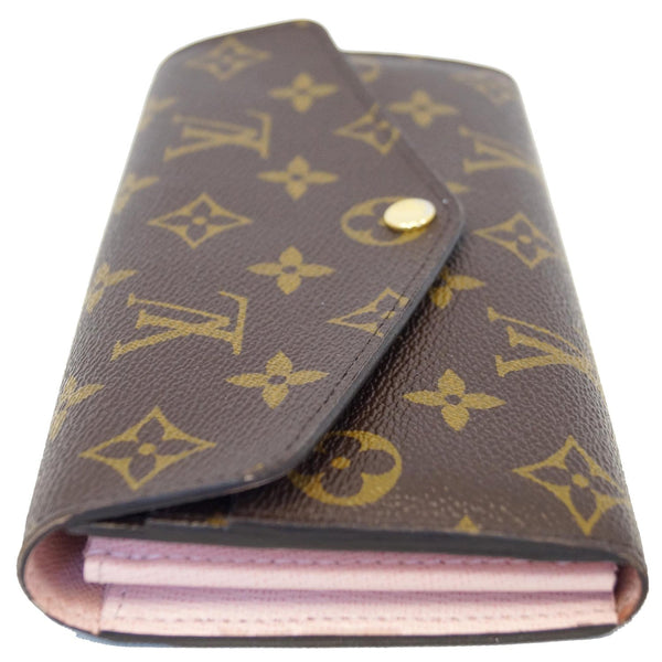 LOUIS VUITTON Sarah Monogram Canvas Wallet Brown