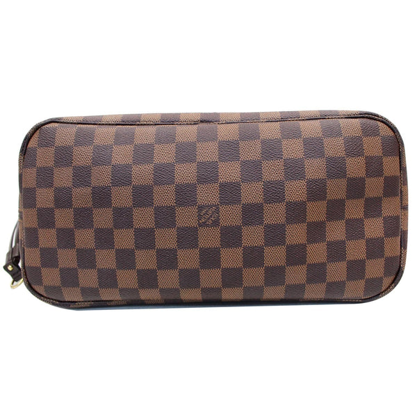 preowned LV Neverfull MM Damier Ebene Bag Brown