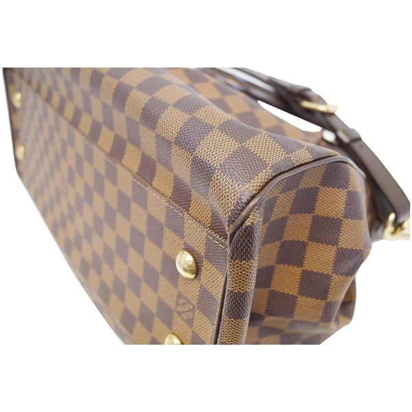 LOUIS VUITTON Trevi GM Damier Ebene Shoulder Handbag Brown